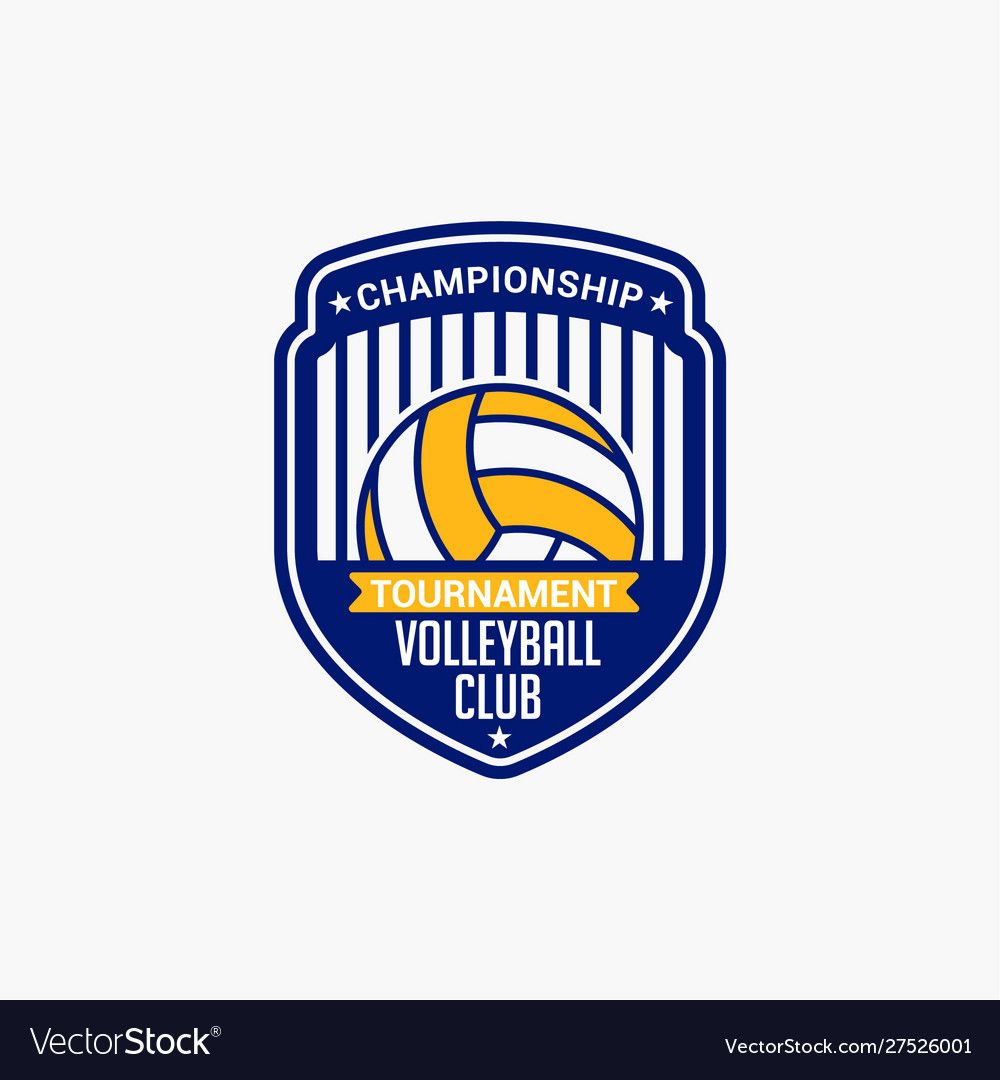 Volleyball Club Badge Logo 11 Royalty Free Vector Image Sponsored Badge Logo Volleyball Club Ad Fish Logo Vector Free Book Silhouette