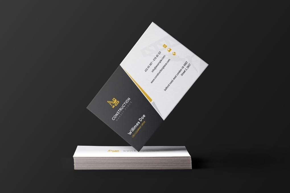 Construction - Business Card Template PSD | Business Card Template ...