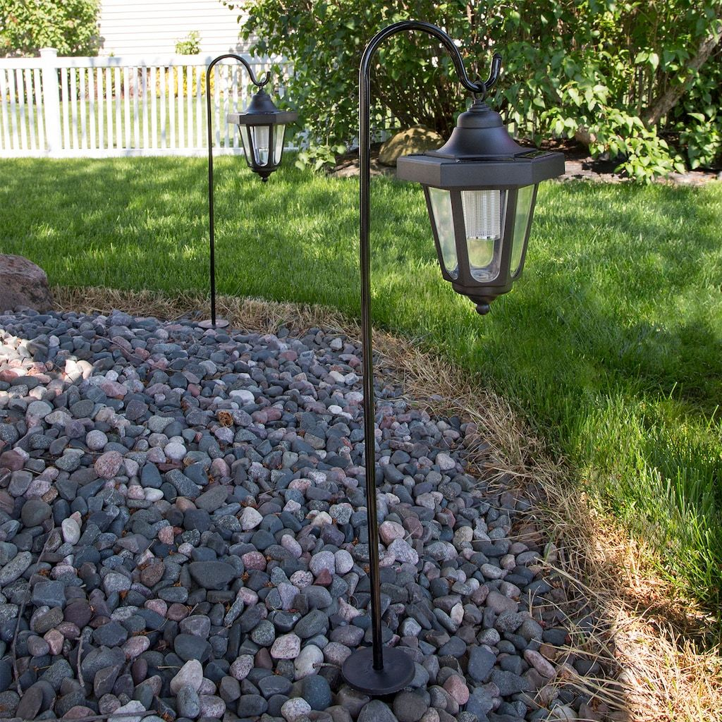 Navarro Outdoor Solar Led Lantern Garden Stake 2 Piece Set Kohls In 2020 Solar Lights Garden Solar Garden Pure Garden