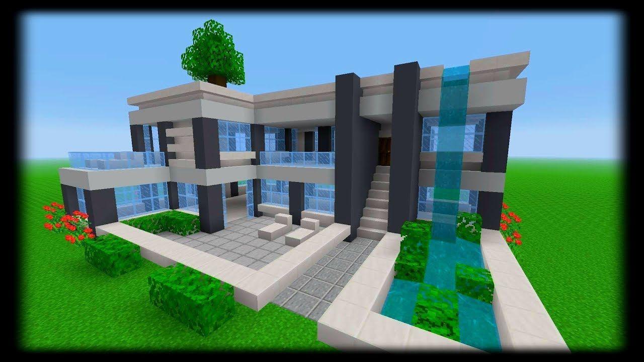 Parfait Minecraft Tuto Grande Maison Moderne And Vuew Minecraft Modern Minecraft Architecture Minecraft Blueprints
