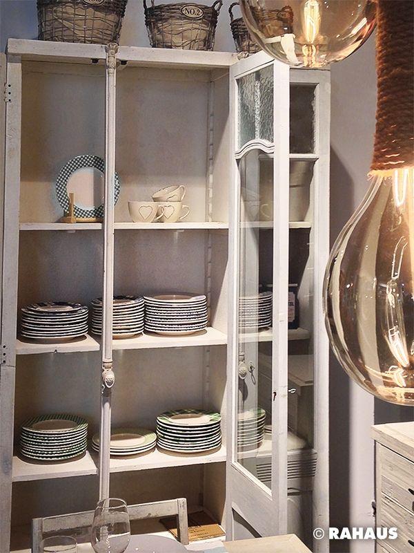 Rahaus De vitrine zum verlieben küche vitrinenschrank geschirr leuchte