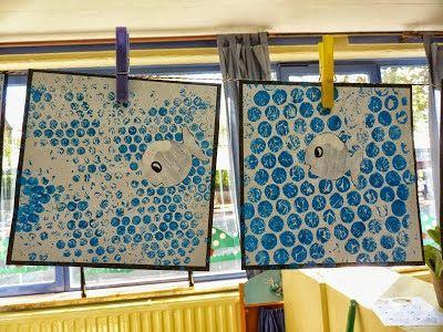 La classe de sof techniques de peinture en maternelle - Le petit poisson rouge maternelle ...