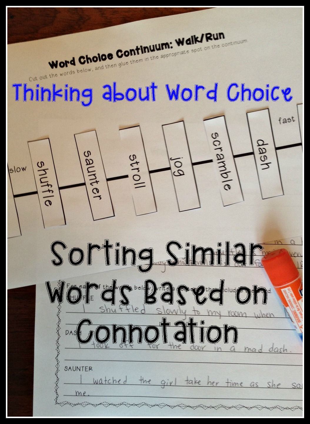 hight resolution of Connotation and Denotation: Thinking about Word Choice   Word choice