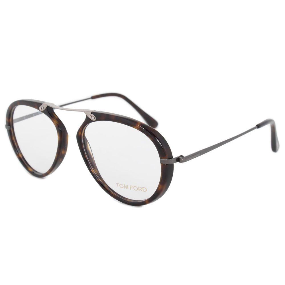 4389e0c30222e New Tom Ford FT 5346 052 53mm Oval Havana Eyeglasses Frame   óculos ...