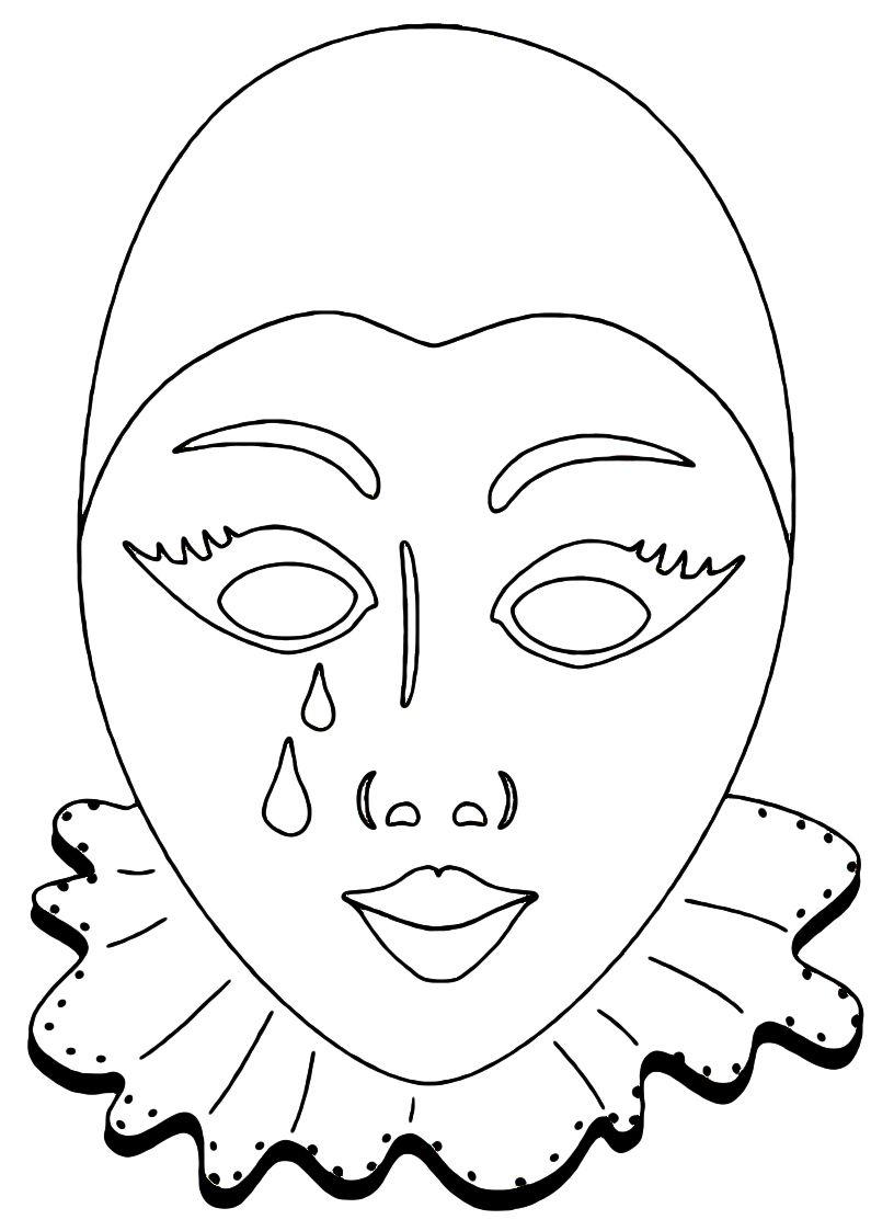 Maschera Pierrot Maschera Maschere Bambini Maschere