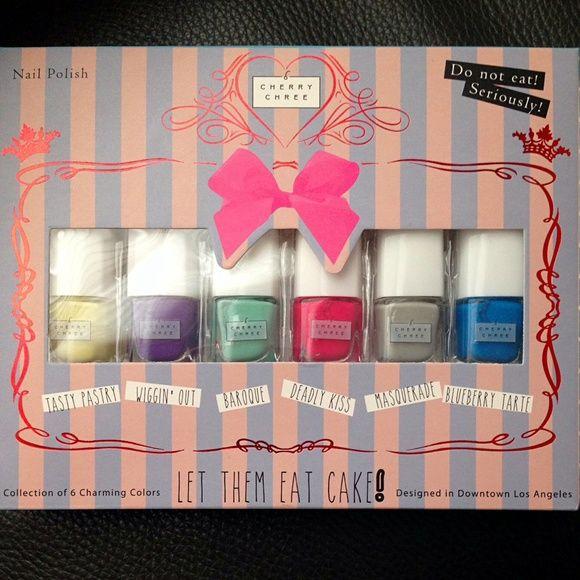 Cherry Chree Nail Polish Set Brand New In Box Cherry Chree