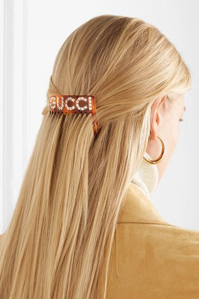 b21b9e50392 Gucci - Resin and crystal hair slide in 2019 | Products | Hair, Hair ...