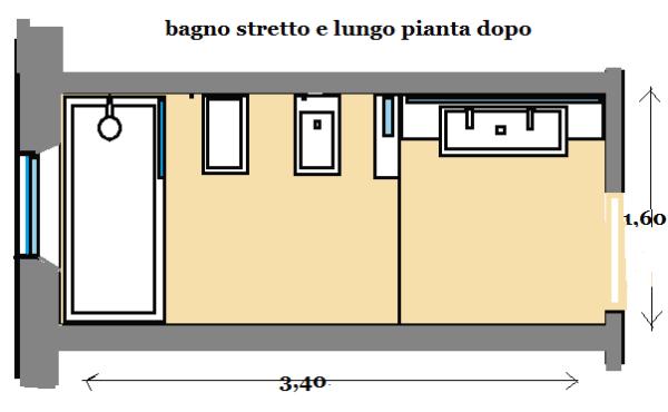 Photo of Piano di progetto per bagno stretto e lungo