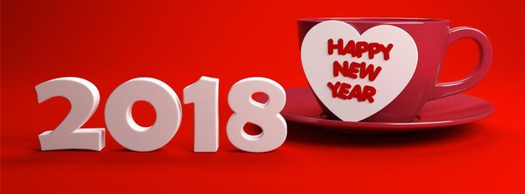 romantic new year 2018 facebook cover for lovers