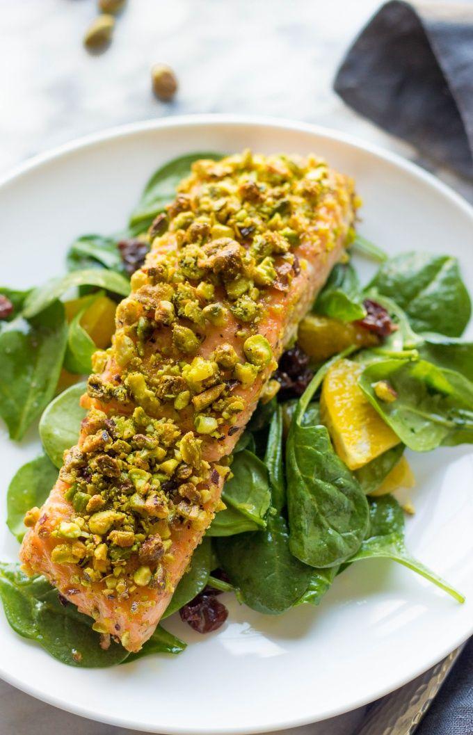 Pistachio Crusted Salmon   Healthy Pistachio Crusted Salmon   Baked Salmon Recipes   Healthy Salmon Recipes
