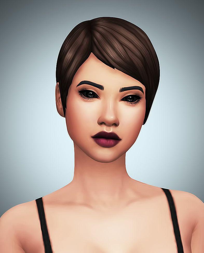Sims 4 Black Hair, Short Hair