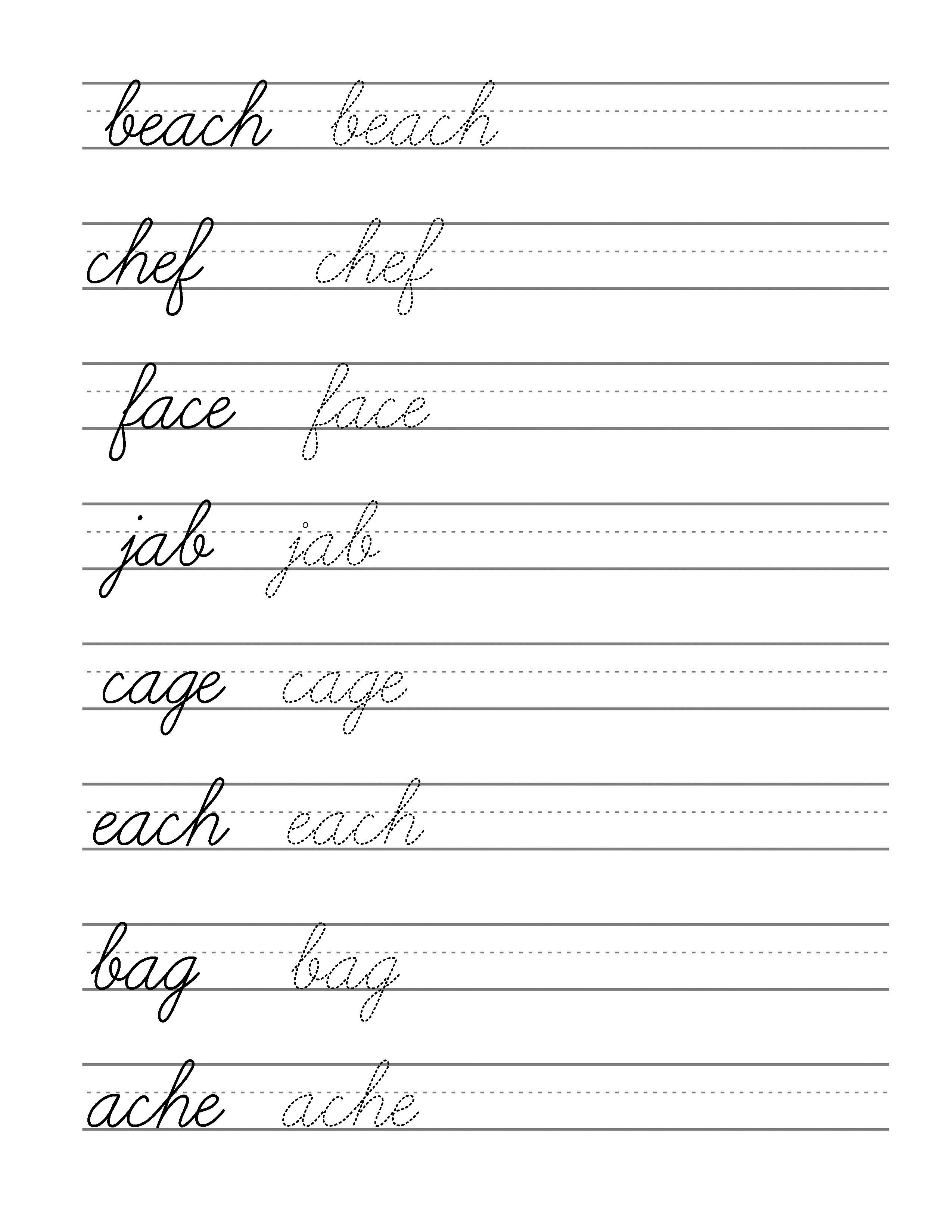 hight resolution of Free beginning cursive - writing template Part 3   Cursive writing  worksheets