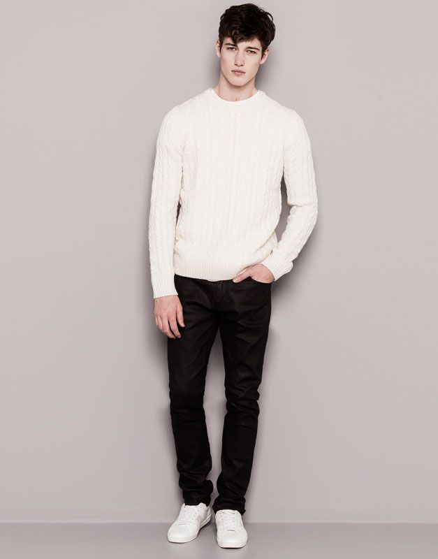 Pull&Bear - hombre - jeans - jeans skinny fit - negro - 05687527-I2014
