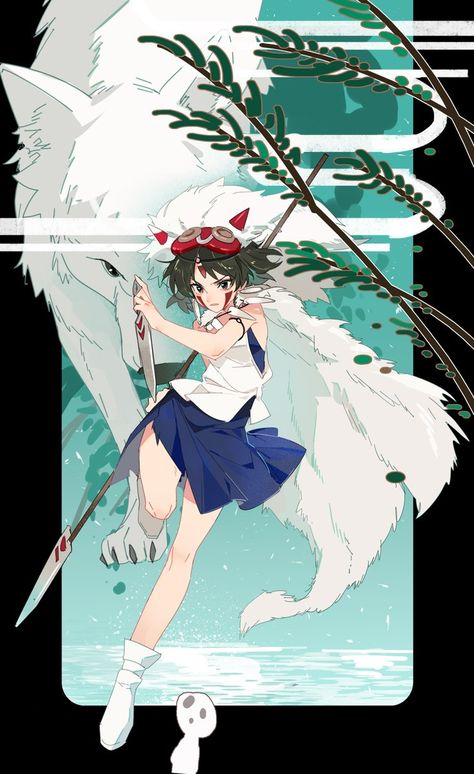 Drawing Wolf Girl Princess Mononoke 18 Ideas Studio Ghibli Art Studio Ghibli Fanart Princess Mononoke Art