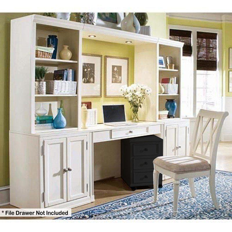 American Drew Camden Buttermilk Desk Wall Unit AD920595W