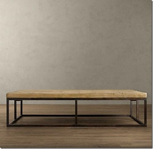 Lovely Restoration Hardware   Reclaimed French Floor Board Coffee Table