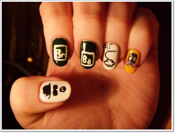 Nail Art Designs Cartoon Characters To Bend Light