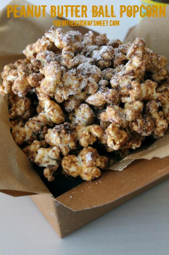 Peanut Butter Ball Popcorn