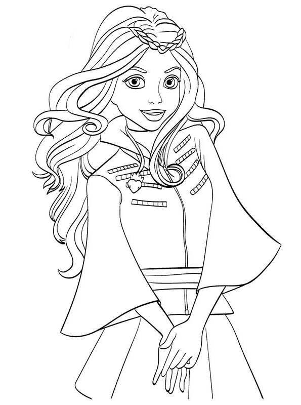 Descendant Coloring Pages Ideas With Superstar Casts