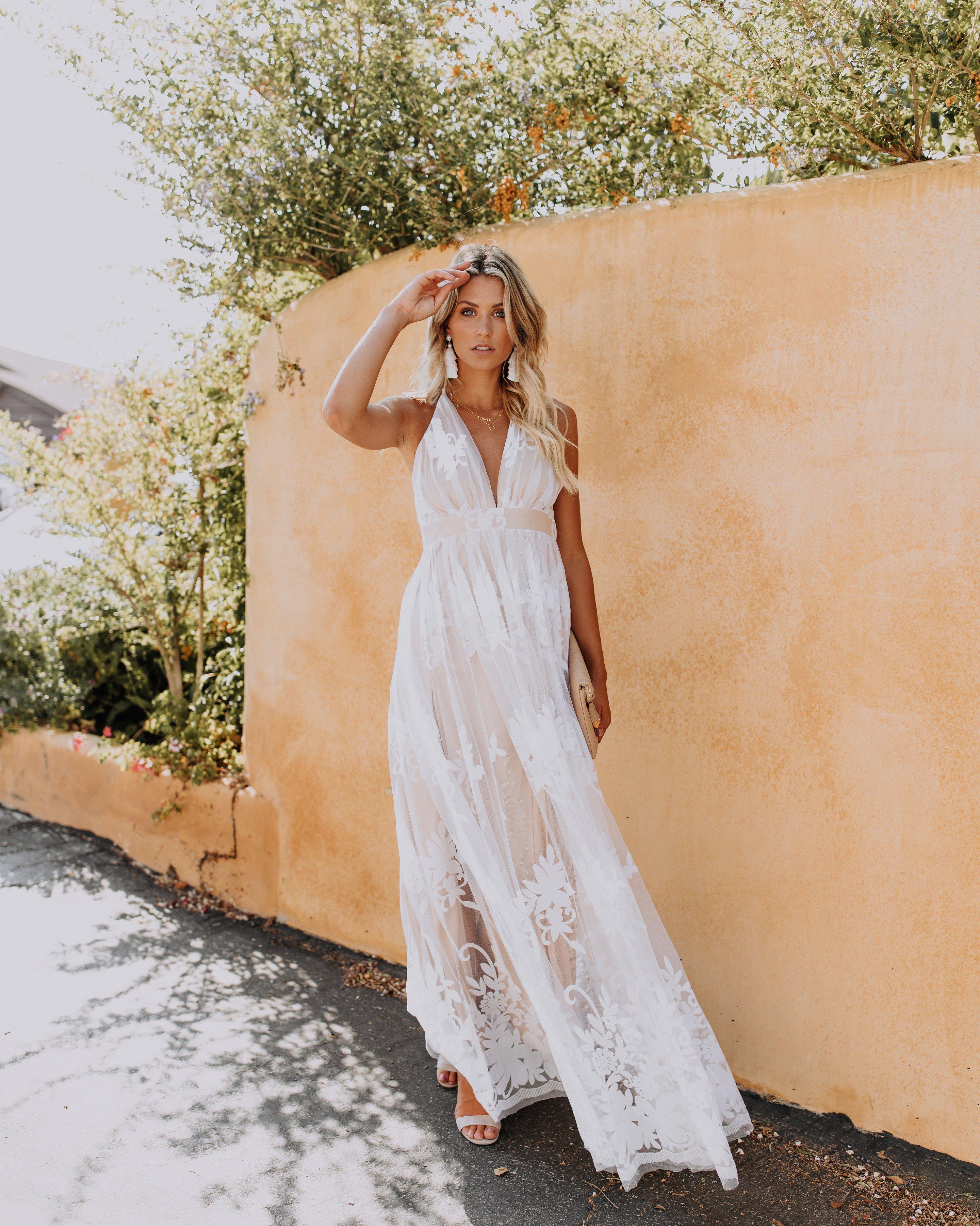 5a7f32c6d35 PREORDER - Antonia Maxi Dress - White