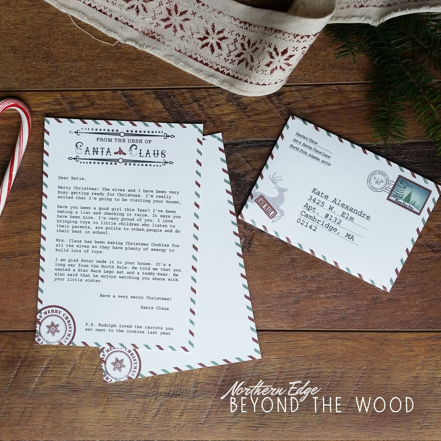 Diy Printable Santa Letter Santa Clause Stationary Christmas Santa