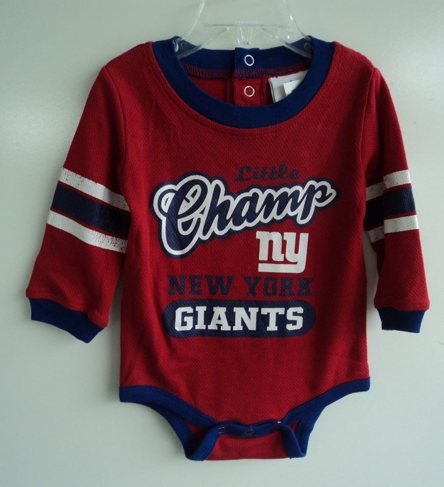 0a679814 NEW NFL New York Giants Little Champ Jersey Snap Bottom Onsie Top Size 6-9  Mo #NFLTeamApparel #Everyday