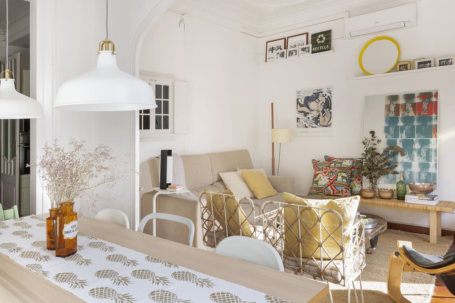 This Barcelona Apartment Masters An Effortless Airy And Very