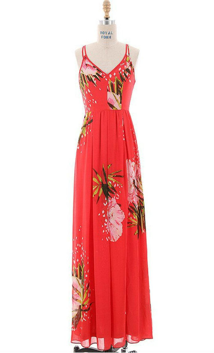 Somewhere on a beach maxi red springsummer outfits pinterest