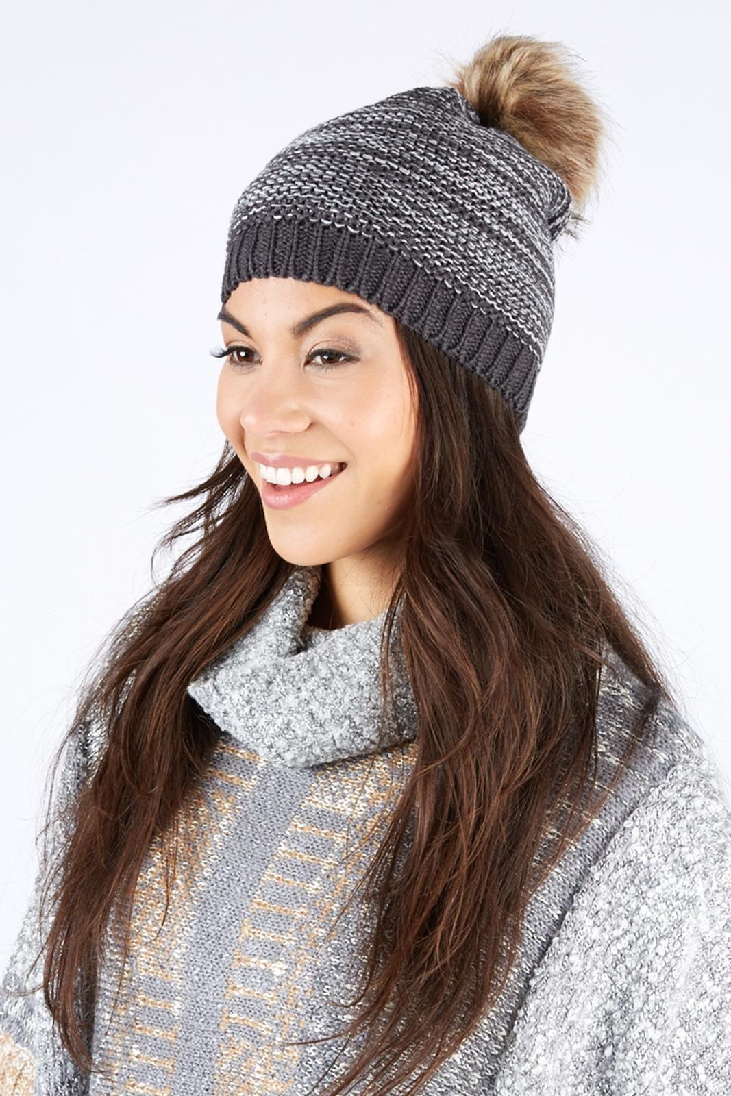 Fur Pom Hat Fur pom pom, Pom pom hat, Knitted hats