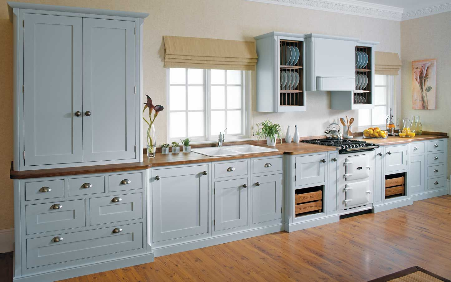 Pale Blue Cleveland InFrame traditional kitchen