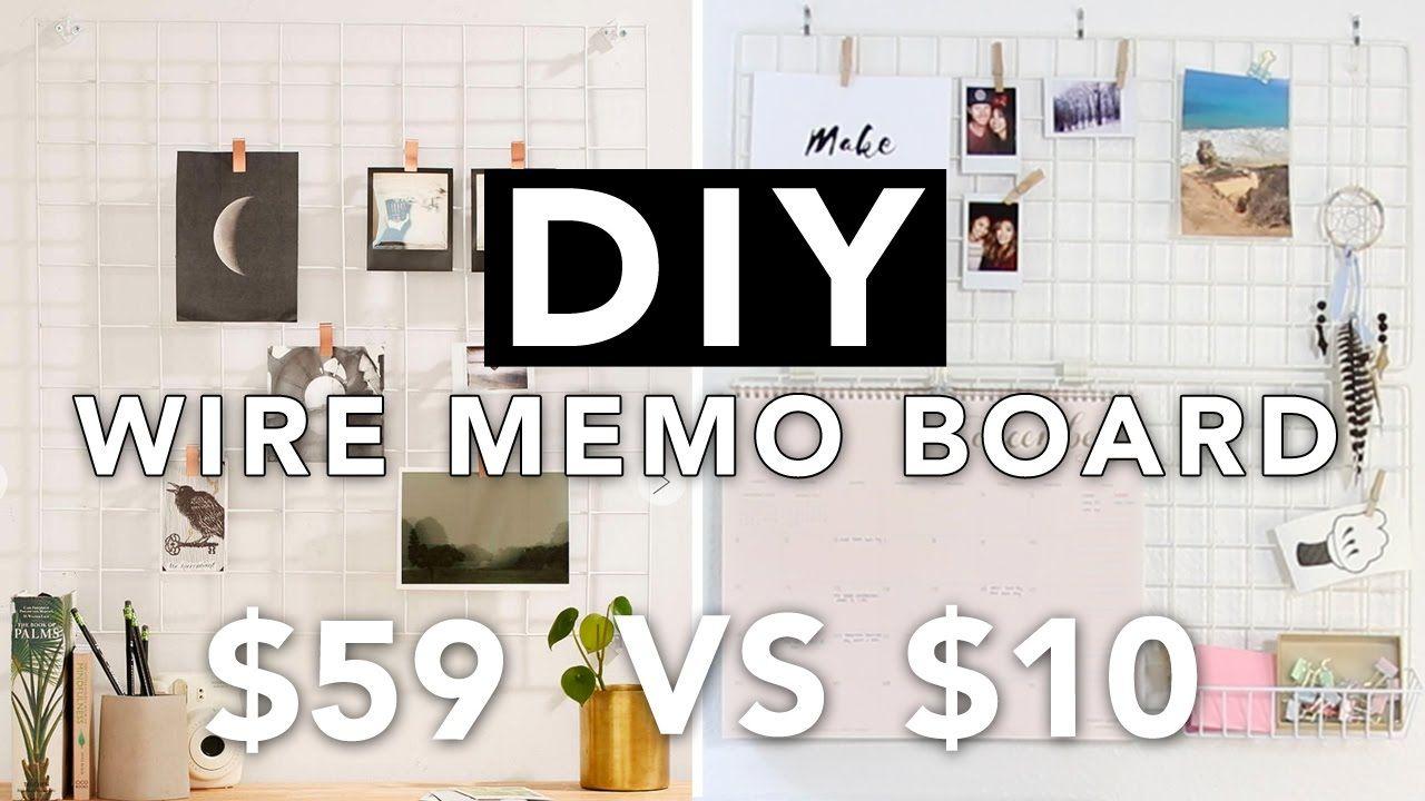 Diy Wire Grid Memo Board Wall Grid Board Super Easy Beautybitten Youtube Memo Board Wall Memo Board Wire Grid Wall