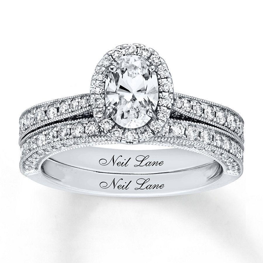 Kay Neil Lane Bridal Set 13/4 ct tw Diamonds 14K White