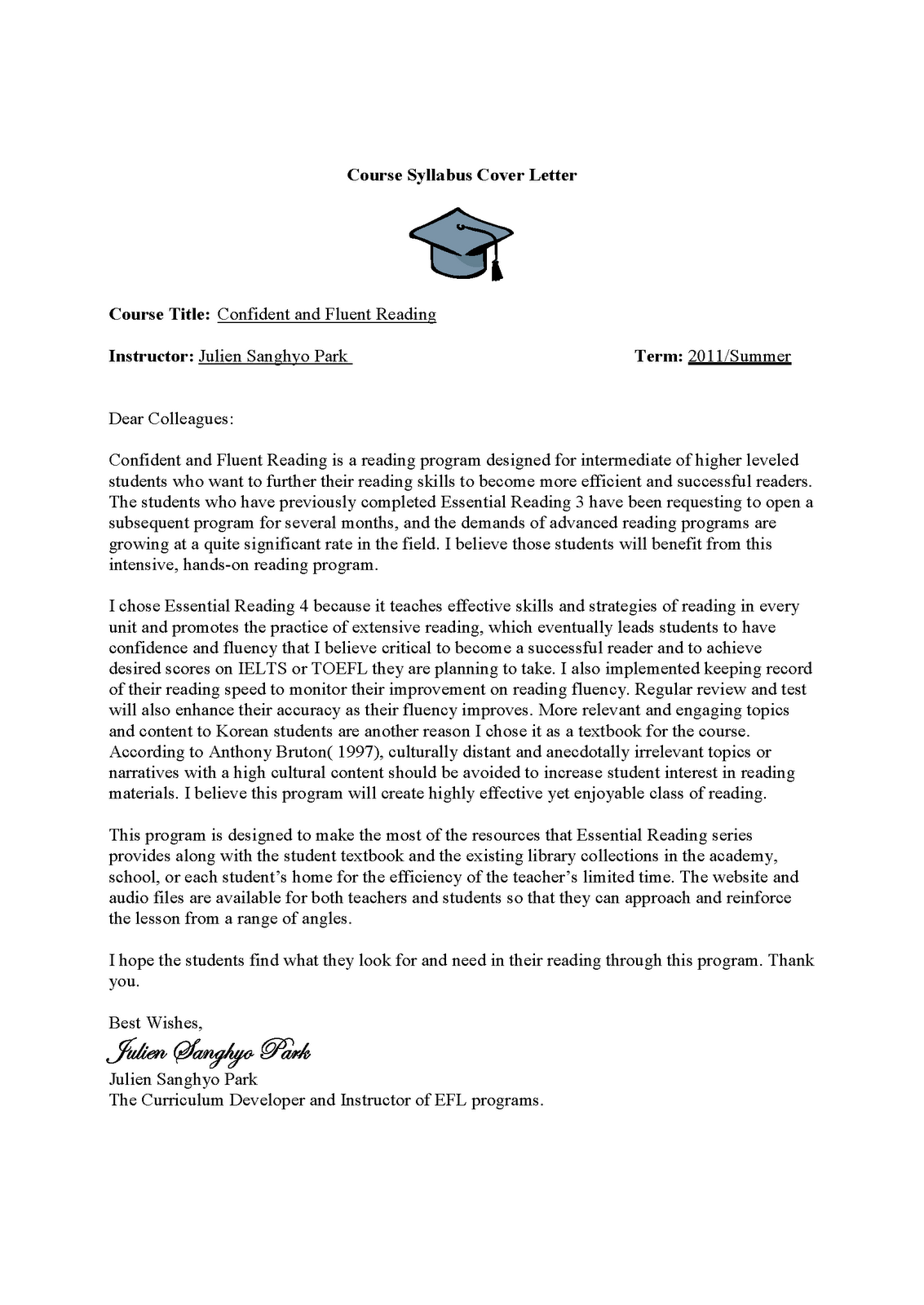 esl teacher cover letter sample english second language application