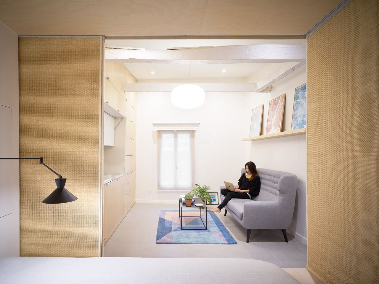 A Tiny Paris Apartment Does It All In 345 Square Feet Micro Apartment Apartment Renovation Modern Renovation