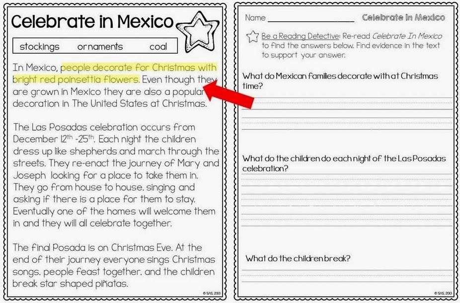 Christmas Reading Worksheets 3rd Grade - 3rd grade spelling ...