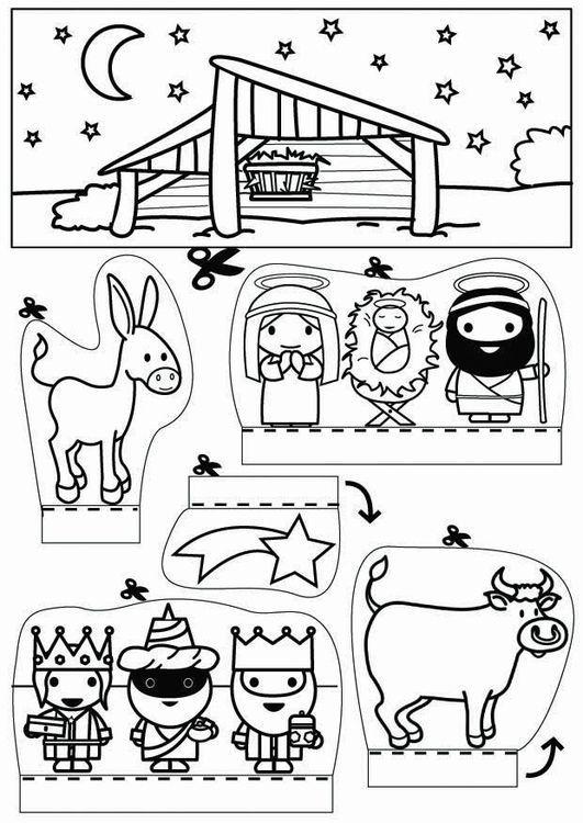 Actividades para colorear de navidad pesebre | Silvana | Pinterest ...