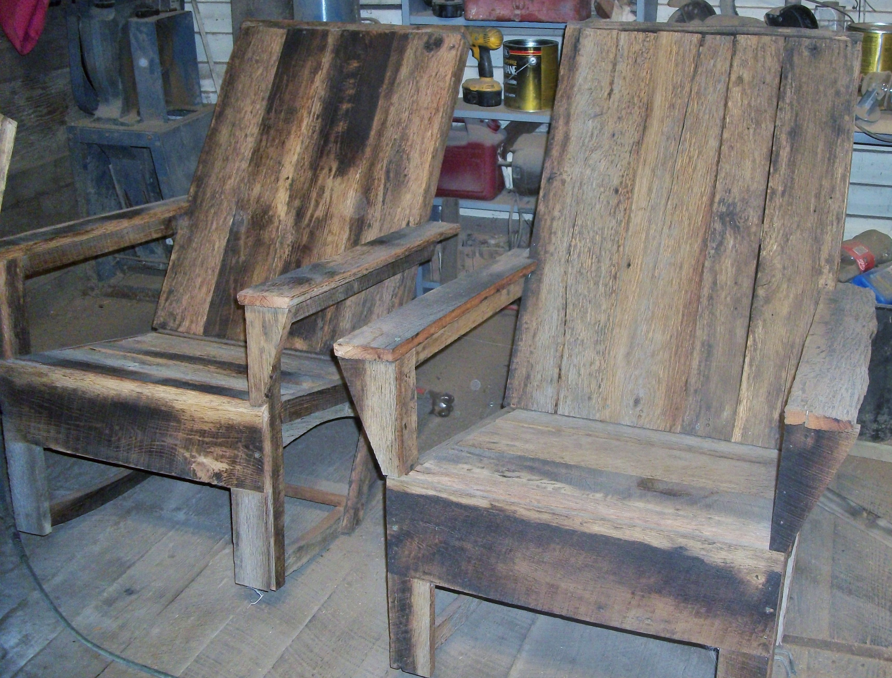 Barn Wood Rocking Chairs Built By Eddie Abernathy At Barn Wood Furniture In  Union Grove,