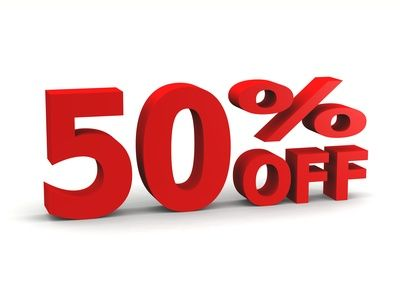 Just for our fans! This week only Take 50 off all