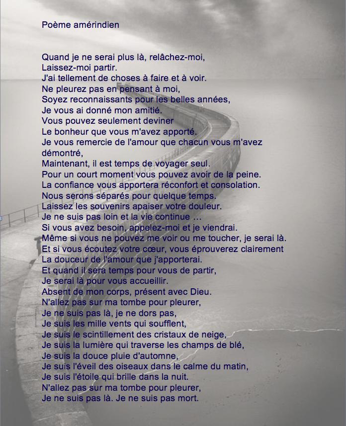 Texte Philosophique Sur La Mort : texte, philosophique, Poème, Amérindien, Texte, Deuil,, Mort,, Décès