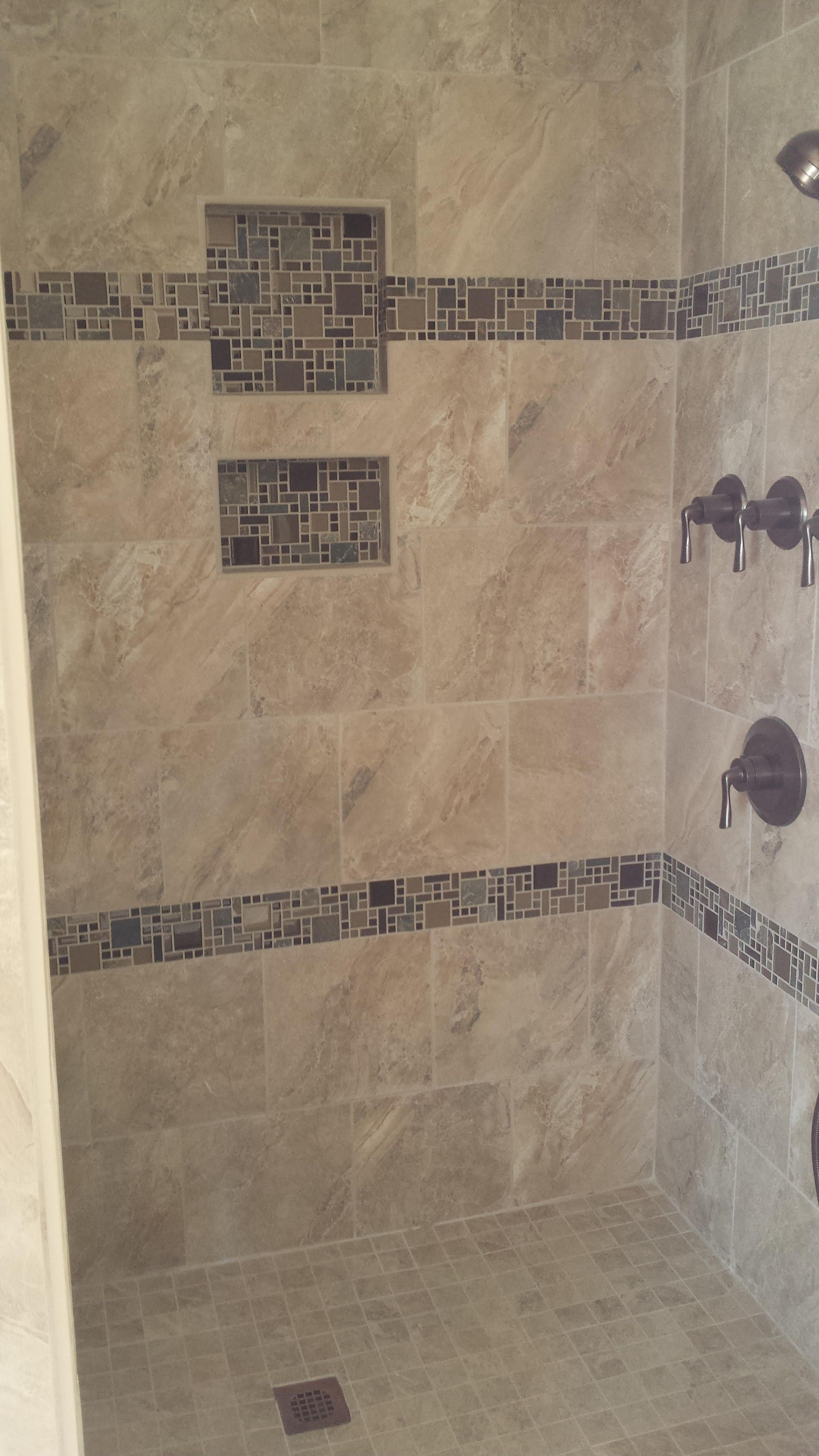 Grespania Icaria Beige 12x12 Wall Tile And 2x2 Floor Mosaic With