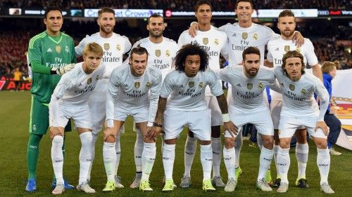 Real Madrid Squad 2015 2016 Starting Eleven Players Wallpaper Hd Wallpapers Wallpapers Download High Resolution Wallpapers Real Madrid Real Madrid Team International Champions Cup