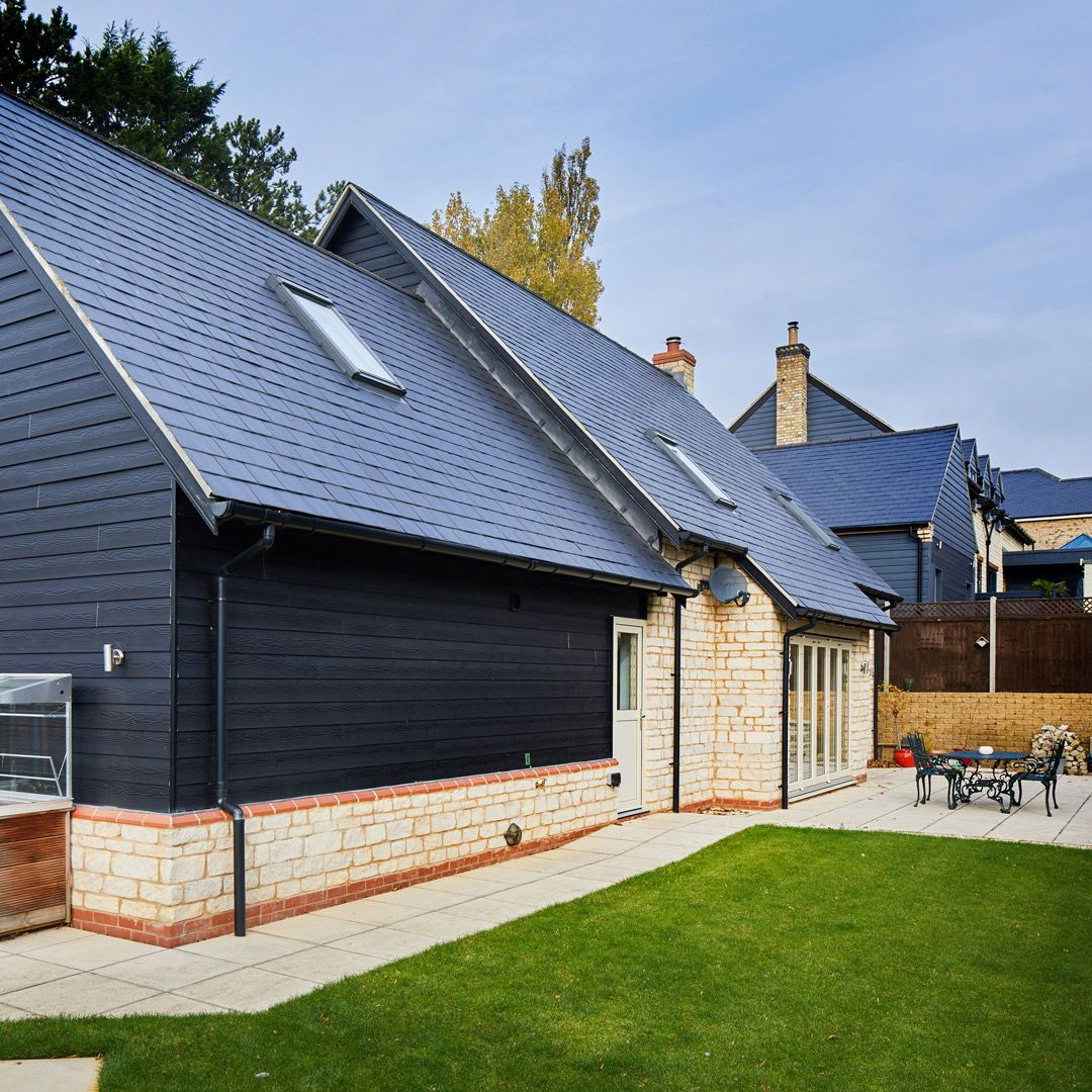 External brick and timber cladding house budget self build cottage dark grey slate also barn with stone building  ideas rh pinterest