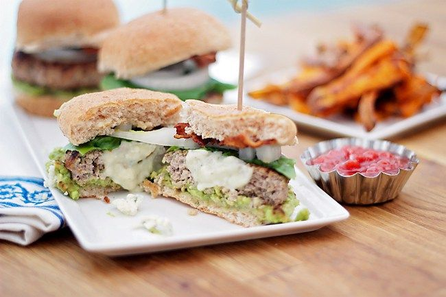 Blue Cheese Turkey Burger Sliders