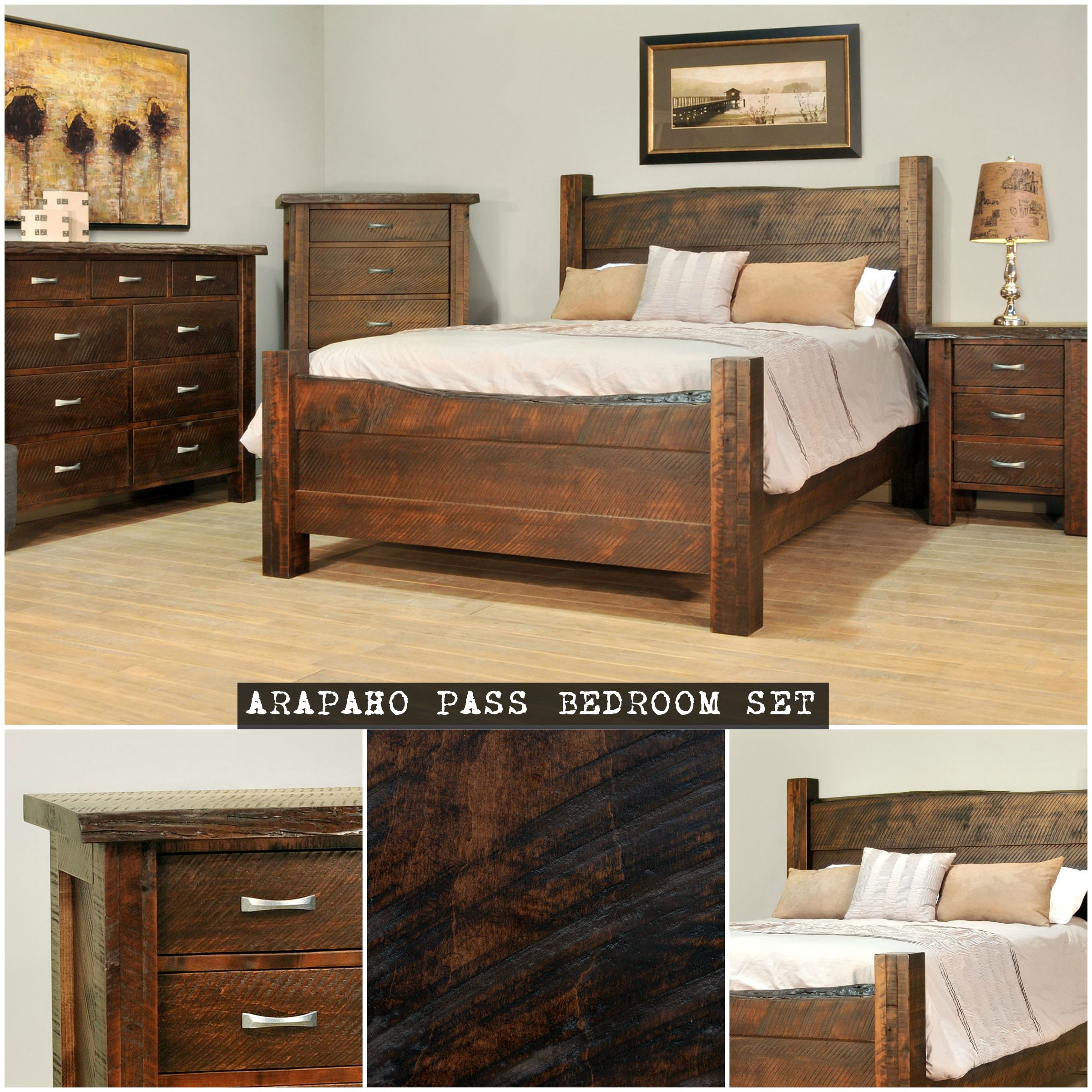 Arapaho Pass Rough Sawn Bedroom Set   Countryside Amish Furniture