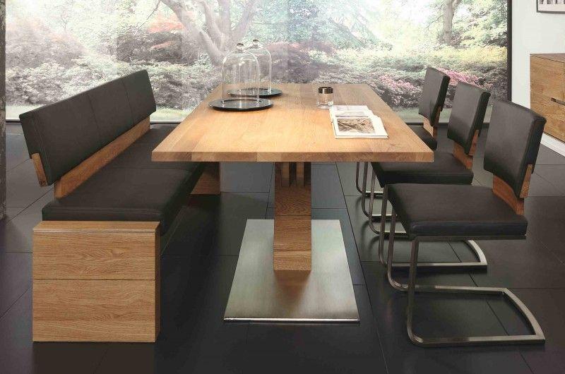 Tischgruppe Essgruppe Esszimmer Bank Tisch Stühle Asteiche Massiv Geölt  Esszimmer Komplettsets Tischgruppen Amazing Pictures