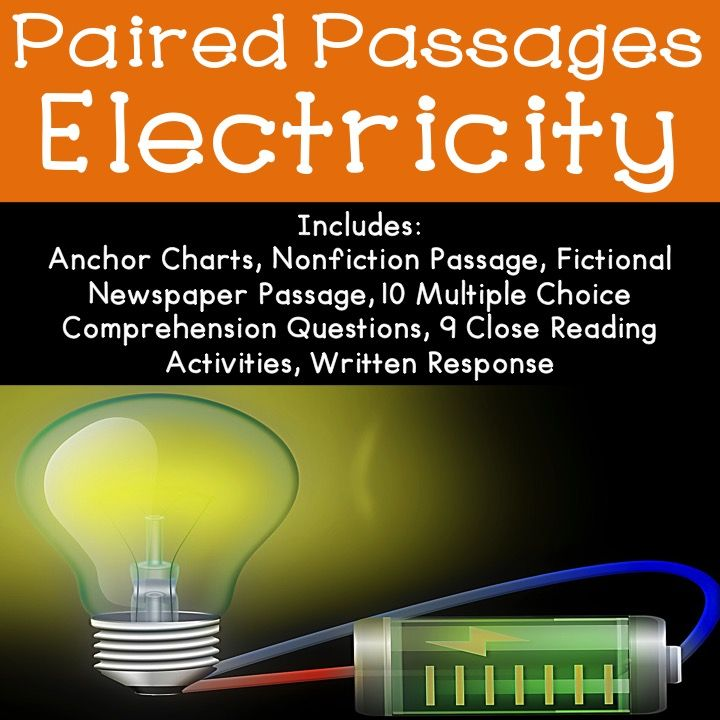 Electricity Reading Comprehension Paired Passage Reading