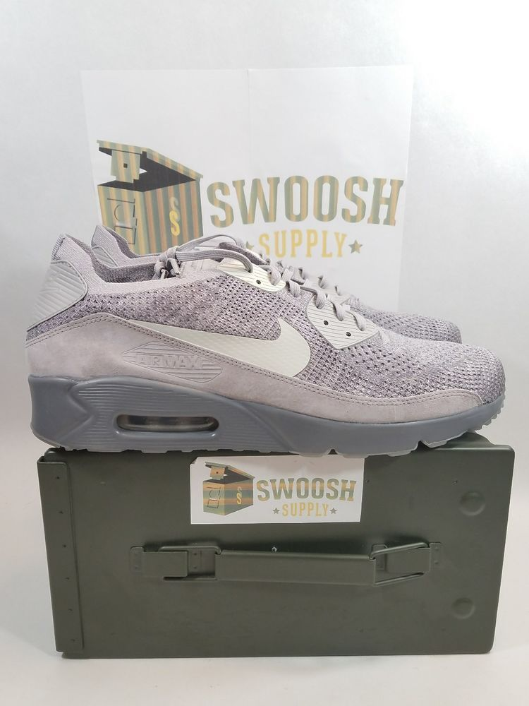 2e7f64998e00 NIKE AIR MAX 90 ULTRA 2.0 FLYKNIT ATMOSPHERE GREY 875943-007 MEN S SZ 15