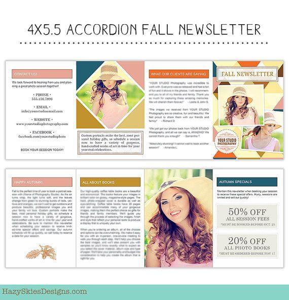 Instant Download Autumn Fall Newsletter By Hazyskiesdesigns 20 00