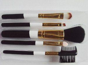 snowprofessional cosmetic beauty makeup brush set 5pcs