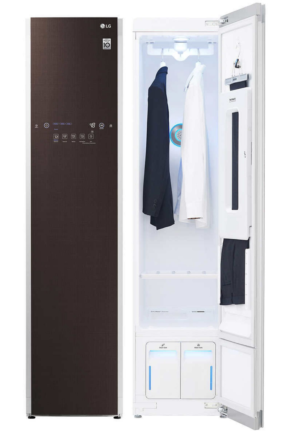 Putting Together A Souped Up Dressing Space Lg Styler Wi Fi Enabled Steam Clothing Care System Is A Compact Sl Smart Appliances Locker Storage Cool Lighting